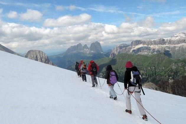 Historical tour of Marmolada glacier